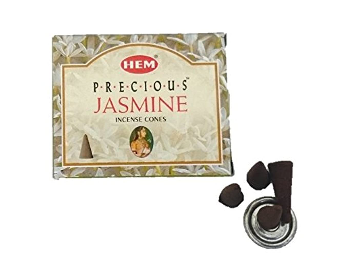 引用方向留まるHEM(ヘム)お香 プレシャス ジャスミン コーン 1箱