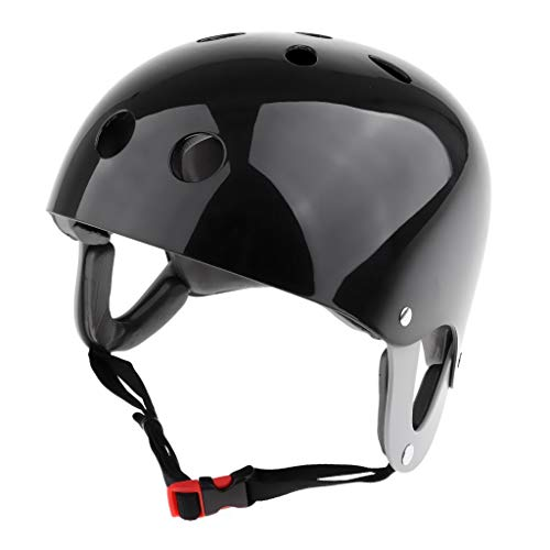 perfk 排水 通気 ウェイクボードカヤック用 ウォータースポーツ安全ヘルメット カヌーボートサーフ 全4色