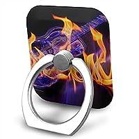 スマホ ホールド リング スタンド 火のギター 超薄型 落下防止 360自由回転 携帯リング Iphone/Galaxy/Xperia/Huawei/Ipad/Ipod各種対応
