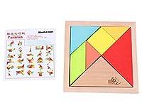 LIFEPOWER 木製立体パズル 組み合わせ 木のおもちゃ 知育玩具 教育 脳トレ シルエットパズル 木のぬくもり カラフル木製パズル 立体パズル ブロック 7ピース