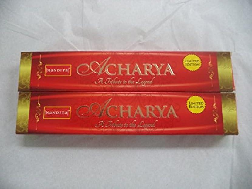 統治する風刺感性Nandita Acharya自然有機Incense Sticks : 2 x 15グラムボックス