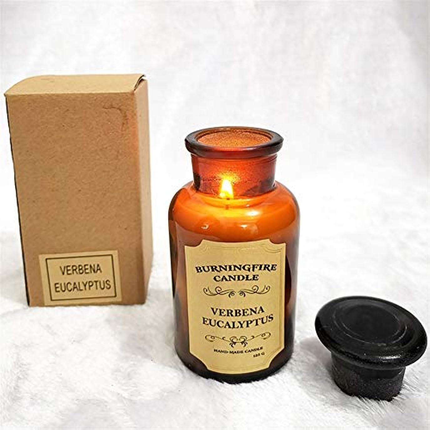 実用的略すメガロポリスZtian 香り手作りギフトガラスローソク足ロマンチックな香りのキャンドル香りのキャンドル誕生日キャンドル (色 : Eucalyptus large)