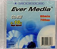 EVER MEDIA CD-RW 700MB 4~10倍速対応 10枚 40個セット EVER MEDIA CD-RW80HS1PX10-40