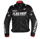 フラッグシップ(Flagship) バイク用ジャケット アーバンライドメッシュジャケット ブラック&ホワイト Lサイズ FJ-S194