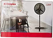Dimplex DCPF50MB High Velocity Pedestal Fan, Matte Black