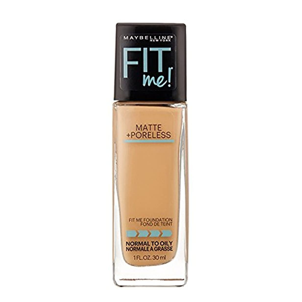 隠すオーバーコートインスタンス(3 Pack) MAYBELLINE Fit Me! Matte + Poreless Foundation - Sun Beige 310 (並行輸入品)