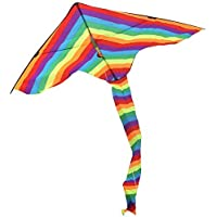 RoarSoar Uttarayan Rainbow Sparkler Fly Hi Delta Child or Adult Easy to Fly Kite 63/Large One Color [並行輸入品]