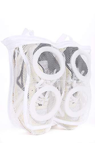 NESHEXST 洗濯 ネット 靴 洗い シューズ (1個, 白)