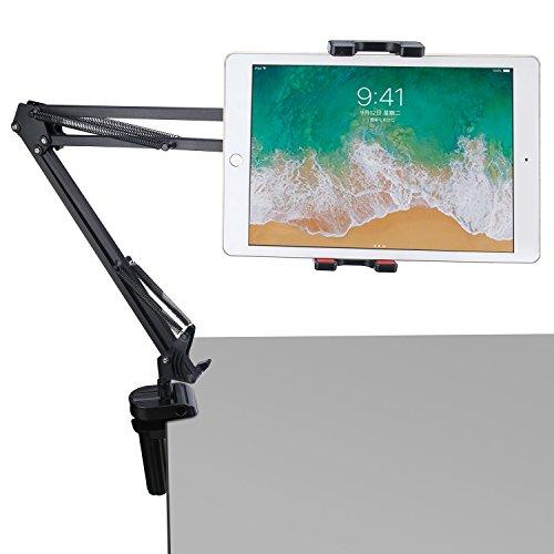 balleenshiny タブレット アーム タブレットスタンド iPad アーム 寝ながら クランプ ipad pro 10.5インチ スタンドアーム iPhoneモニターアーム 主体調節でき 折りたたみ 4〜12.9インチfor iphone iPadなど適用