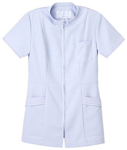ナガイレーベン 女子上衣 医療白衣 半袖 ブルー EL CB-1532