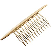 VPbao Simple Alloy Hair Comb Side Combs Hair Clip for Women Gold