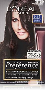L'Oréal Paris Préférence Permanent Hair Colour - 3.21 St Honore (Intense, Fade-Defying Col