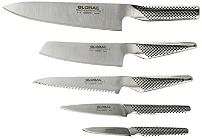 Global Block Set Katana Knife Block Set, Stainless Steel