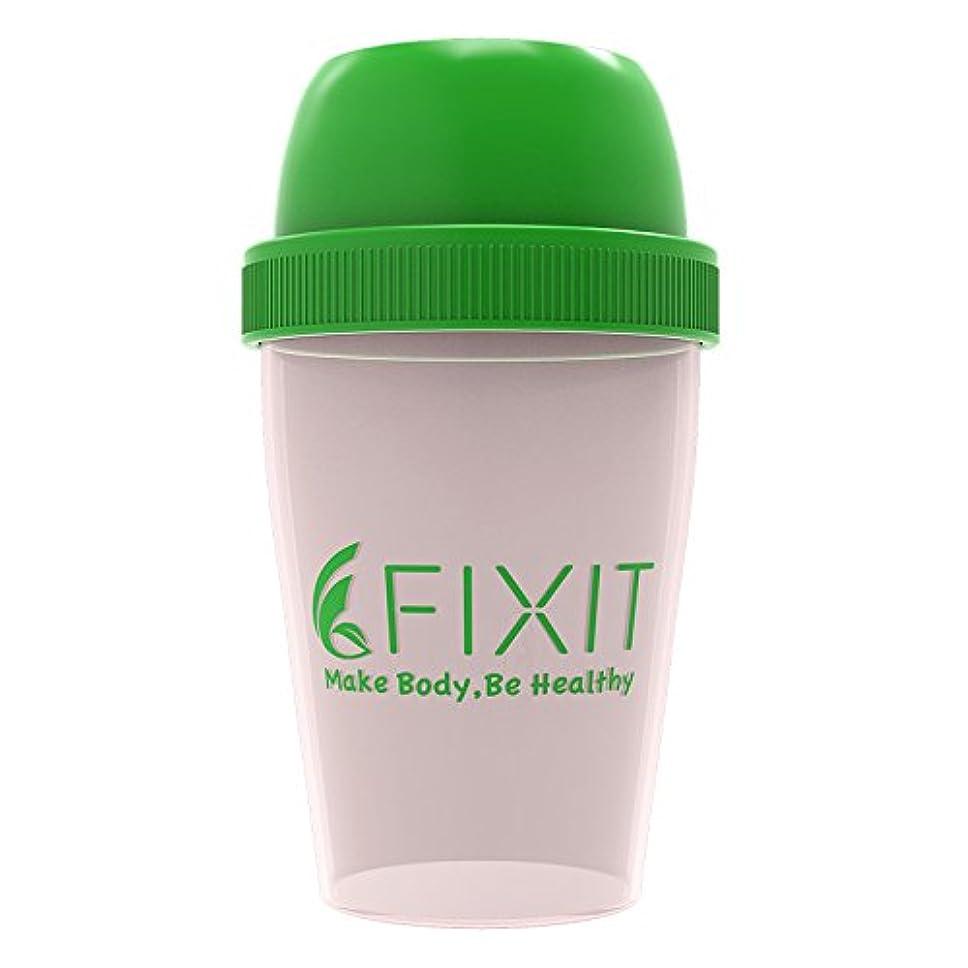 スノーケル目を覚ます理容室【 FIXIT 】 プロテイン シェイカー 300ml ホエイプロテイン プロテイン用 シェーカー