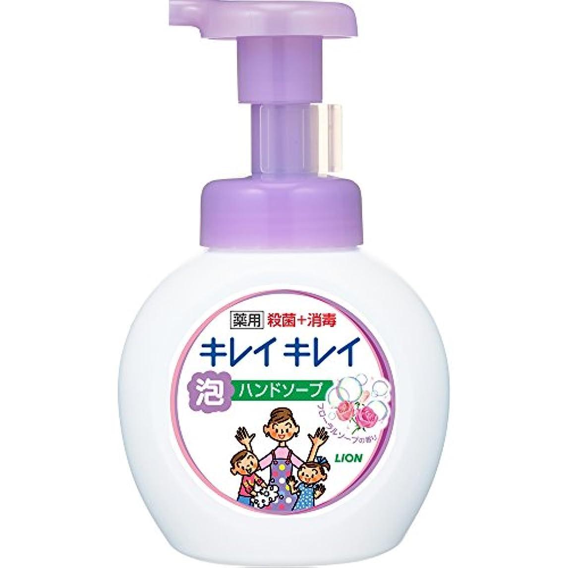 四面体受け継ぐドメインキレイキレイ 薬用泡ハンドソープ フローラルソープの香り 本体ポンプ 250mL