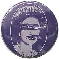Pistols God Save The Queen ピストルズ?パンク ロゴ 缶バッジ London ストリート マーケットからc109[イギリス直輸入]