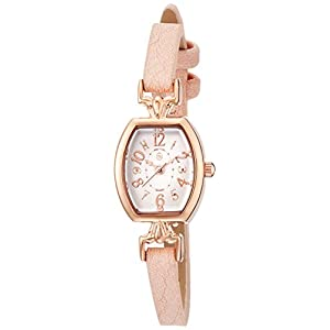 [フィールドワーク]Fieldwork 腕時計 ファッションウォッチ nattito エシル 革ベルト ピンク QKS080-2 レディース