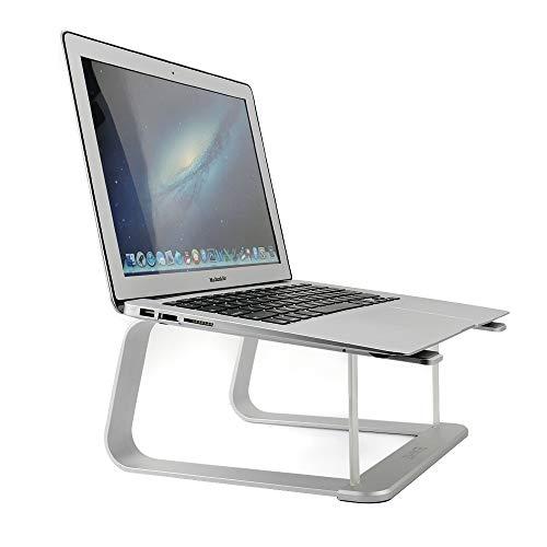 ノートブックスタンド、ZHIKE アップグレード版 アルミニウム換気スタンドアップデートバージョンノートブックデスク/ホルダー/テーブルApple MacBook、Air、Pro、Dell XPS、HP、Samsung、Lenovo互換10インチ〜17インチノートブック(シルバー)