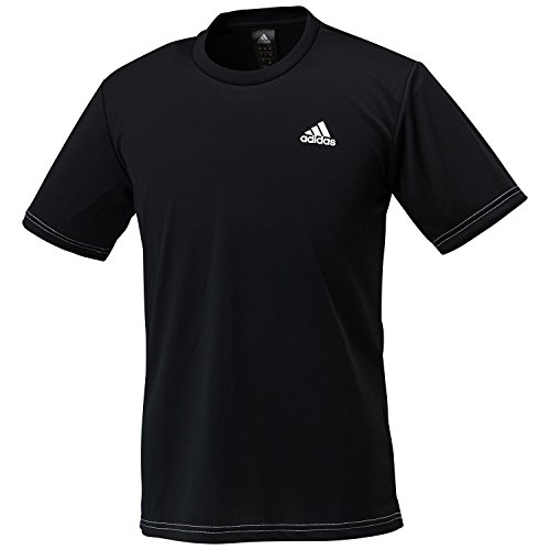 (アディダス)adidas トレーニングウェア BASIC ワンポイント半袖Tシャツ DJF43 [メンズ] BR1309 ブラック/ホワイト J/M