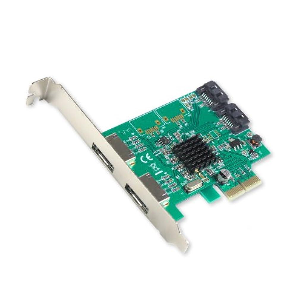 登山家ラブに対応する(4-port, SI-PEX40063) - IO Crest SATA III 2 Port Internal and 2 Port eSATA III PCI-e 2.0 x 2 Controller Card with Low Profile Bracket (SI-PEX40063)