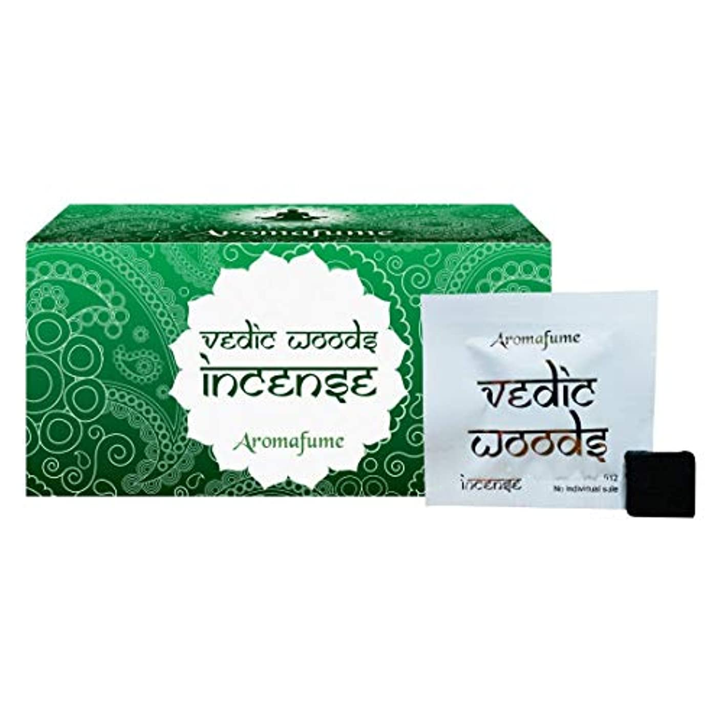 熟読する無駄なカリングAromafume Vedic Woods Incense Bricks (Medium)