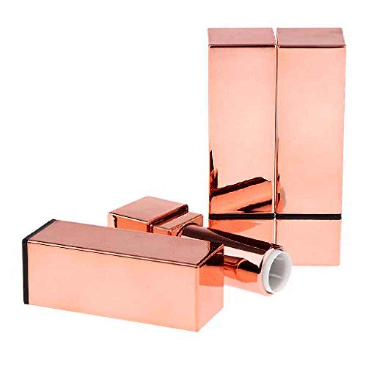 シェア劣るスパークP Prettyia 3本 空 リップクリームチューブ 口紅チューブ 化粧品ボトル 全5選択 - #4