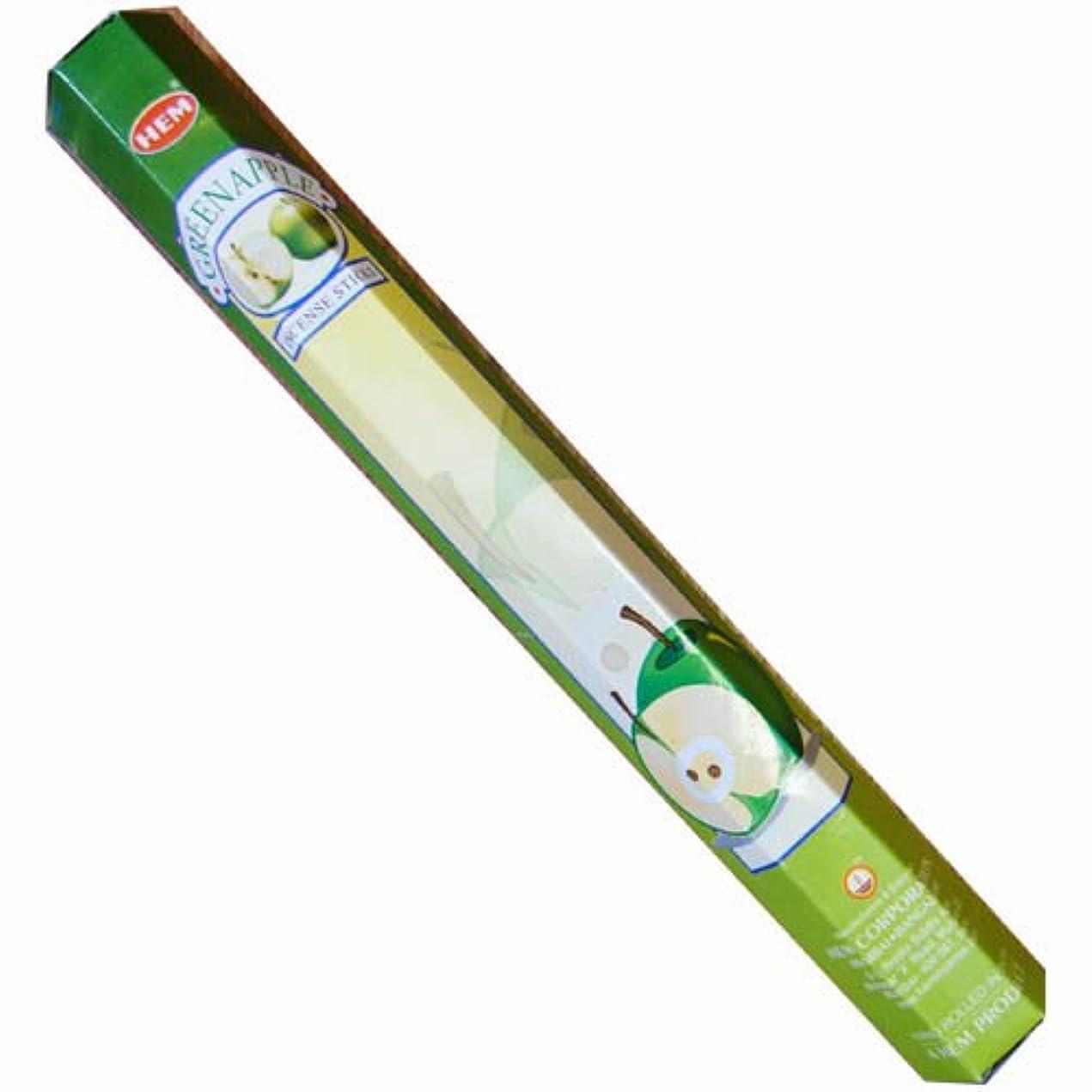 条件付きアダルト胚芽【AROMA】スティックお香/インセンス/六角香:グリーンアップル(HEM社)