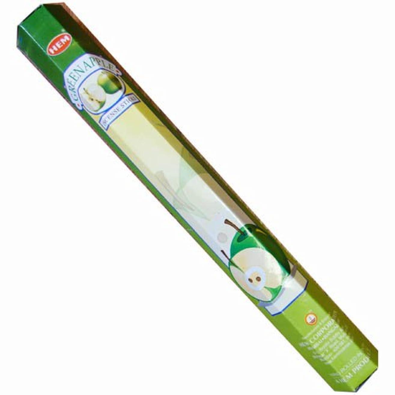 生息地ほうきようこそ【AROMA】スティックお香/インセンス/六角香:グリーンアップル(HEM社)