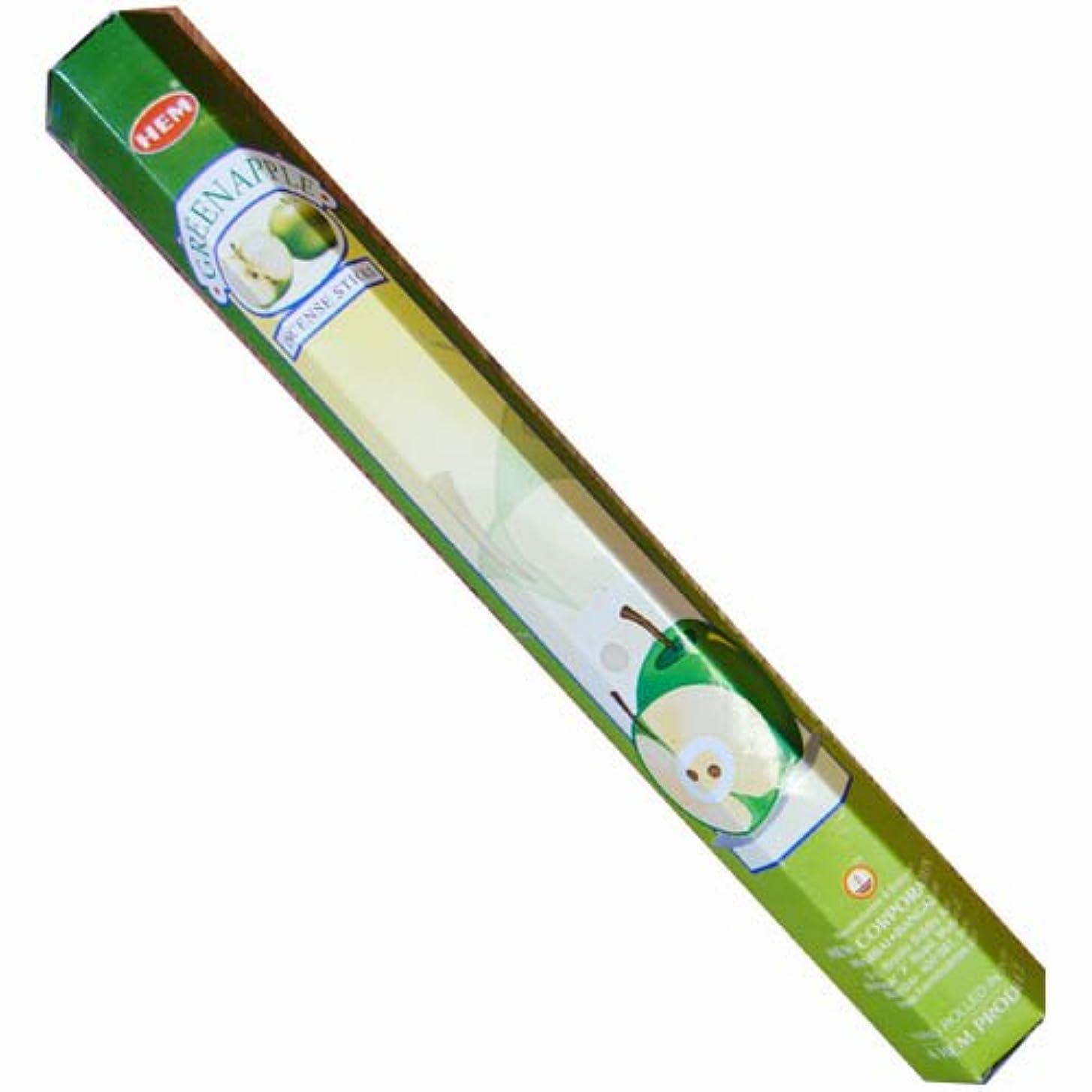 思春期の補足例示する【AROMA】スティックお香/インセンス/六角香:グリーンアップル(HEM社)