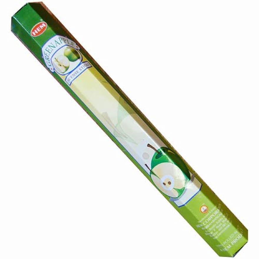 激しい代わって計り知れない【AROMA】スティックお香/インセンス/六角香:グリーンアップル(HEM社)