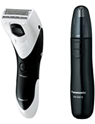 パナソニック メンズシェーバー ボディ用 お風呂剃り可 白 ER-GK40-W + エチケットカッター 黒 ER-GN10-K セット