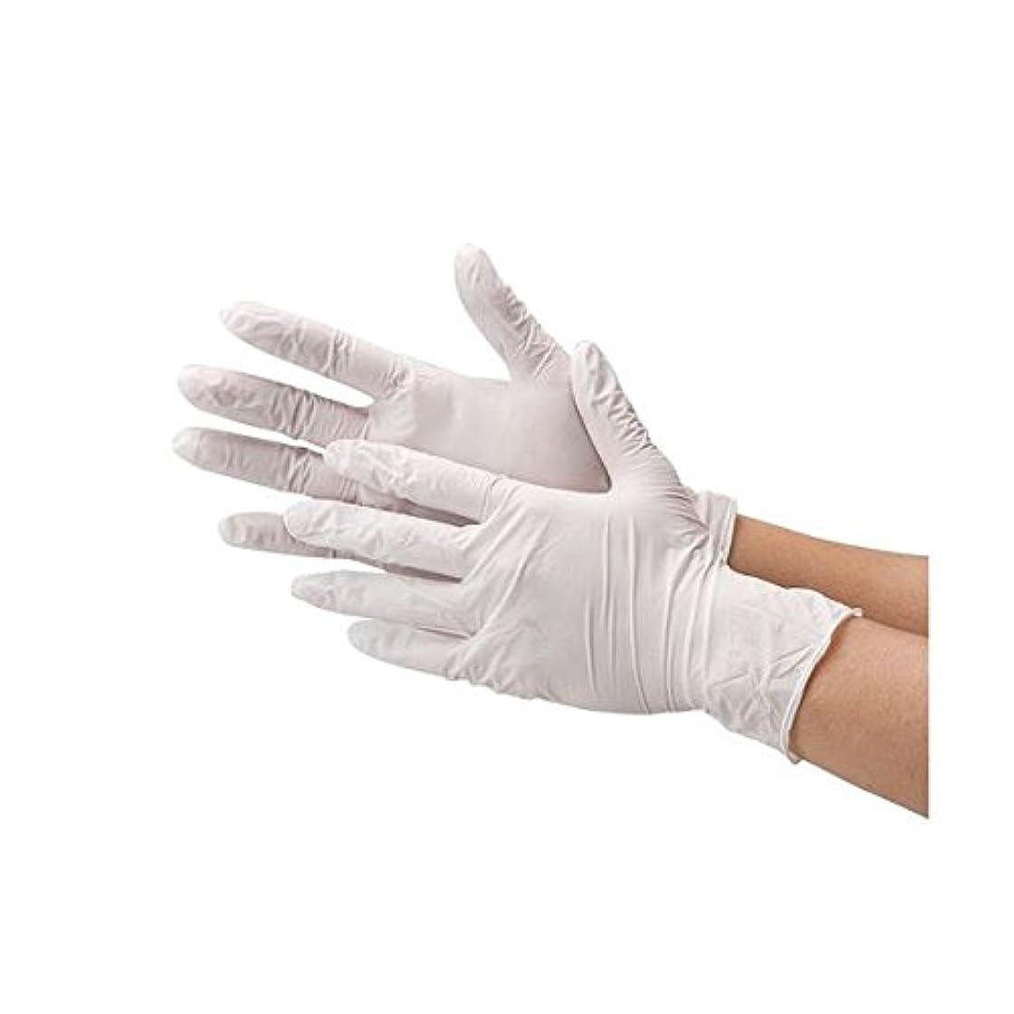 川西工業 ニトリル極薄手袋 粉なしホワイトM ds-1915810