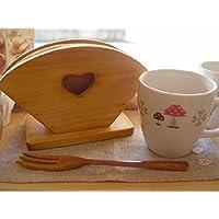 コーヒーフィルターケース 木製 ひのき ナチュラル カントリーハート くり抜き コーヒーペーパーケース 受注製作