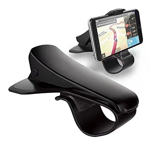 Smilemall クリップ式 カーマウント スマホ車載ホルダー カーホルダー HUD設計 安全運転  着脱簡単 iOS/Android対応