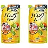 【まとめ買い×2】 ハミングFine 柔軟剤 フルーティアロマの香り つめかえ用 480ml×2個パック