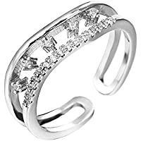 ZOZOE Double Layers Wave Ring Women New Fashion Jewelry Silver Adjustable Size Cute Gift Opening Ring Girls Charming Gifts