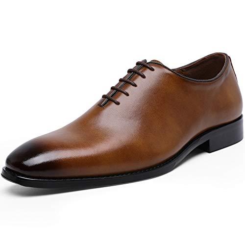 [フォクスセンス] ビジネスシューズ 本革 革靴 紳士靴 メンズ ドレスシューズ 本革 プレーントゥ ブラウン 26.0cm DS662-02