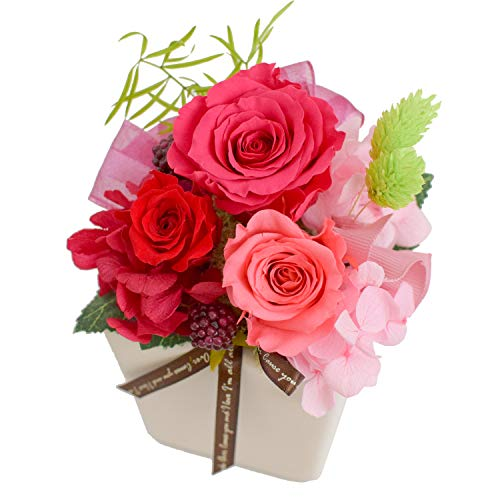 花由 プリザーブドフラワー パレット ベリーピンク マケプレプライム便