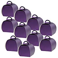 D DOLITY ケーキ箱 紙ボックス ボール紙 包装容器 御馳走箱 装飾的 10個 3色選べ - 紫