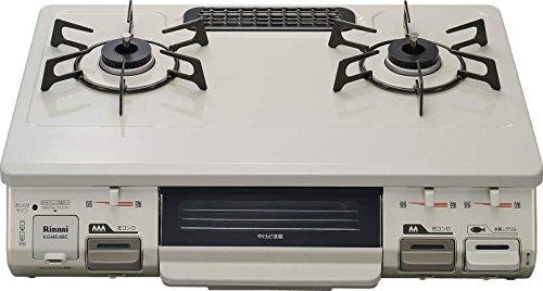 リンナイ ガステーブル 水無し片面焼 LP用 左強火 クリームベージュ KGM64BEL LP
