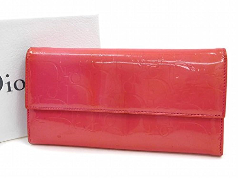 [クリスチャン?ディオール] Christian Dior 長財布 トロッター エナメルレザー X16578 中古