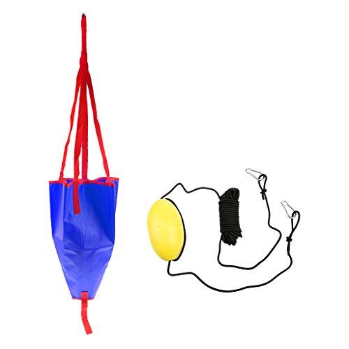 シーアンカー 海錨 牽引ロープ スローライン クリップ付 カヤック 漂流 ボート 耐久性 アクセサリ