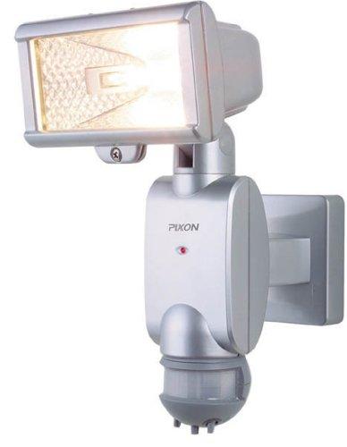 ムサシ PIXON 防雨センサーライト 「探知角度180度」 ハロゲン150W PA-515