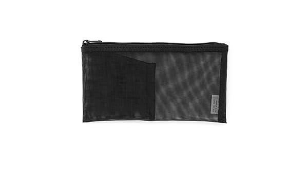 ナイロンメッシュペンケース・ポケット付き 約8×17cm・黒 site cover image