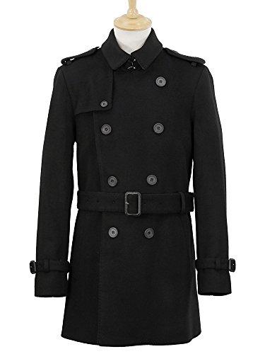 (バーバリー) BURBERRY LONDON メンズ トレンチコート BRITTON W ブラック 3877791 AAHZB サイズ46 00100 BLACK [並行輸入品] -