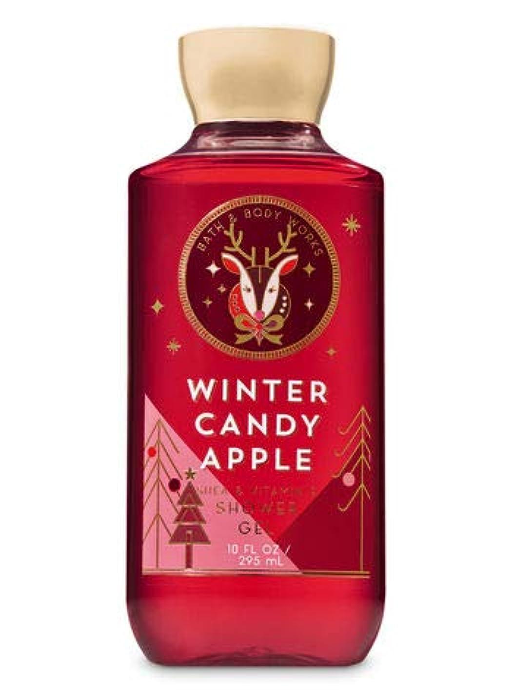オフ先住民ブランチ【Bath&Body Works/バス&ボディワークス】 シャワージェル ウィンターキャンディアップル Shower Gel Winter Candy Apple 10 fl oz / 295 mL [並行輸入品]