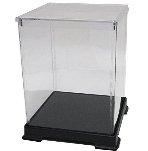 かしばこ商店 透明フィギュアケース 242432 プラスチック 組立式 W240×D240×H320mm ディスプレイケース