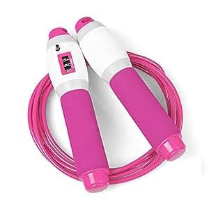 脂肪燃焼ホームフィットネスロープ(ピンク2.8メートル)をスリミング電子カウントをスキップ