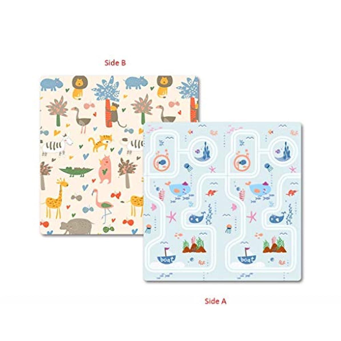 補足通行人自発的赤ちゃんプレイマット、厚い赤ちゃんクロールマット両面防水無毒シルクepeアンチスキッド子供プレイマットカーペット用赤ちゃん幼児子供 DITAN (Color : B, Size : 150x180x2cm)