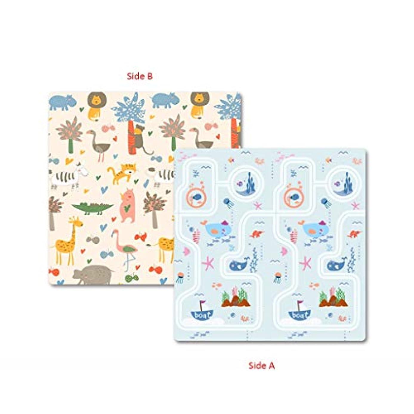 作業レンダー局赤ちゃんプレイマット、厚い赤ちゃんクロールマット両面防水無毒シルクepeアンチスキッド子供プレイマットカーペット用赤ちゃん幼児子供 DITAN (Color : B, Size : 150x180x2cm)